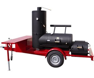Rumo Joe's 24'' Chuckwagon Catering Smoker Trailer